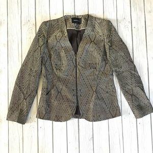 Lafayette 148 Double ZIP Up Blazer/ Coat With Flaw